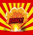 cartoon explosion effect with smoke retro boom vector image vector image