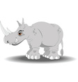 Cartoon rhino vector image vector image