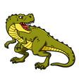cartoon roaring tyrannosaurus rex vector image vector image