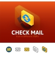 Check mail icon in different style vector image vector image