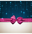 Christmas background with purple bow vector image vector image