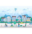 city life - modern flat design style vector image vector image