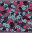 colorful leaf collection background seamles vector image vector image