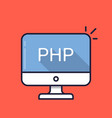 computer with php word on screen server-side vector image vector image