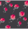 concept hexagon rose flower vector image