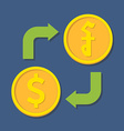 Currency exchange Dollar and Riel vector image vector image