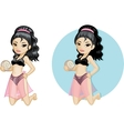 Cute young Asian woman in bikini vector image vector image