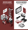 detective agency vertical banners vector image vector image