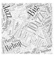 Dizzy Gillespie Word Cloud Concept vector image vector image
