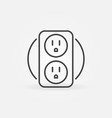 double us smart socket concept icon in thin vector image vector image