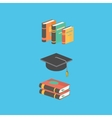 Education and knowledge concept book vector image vector image