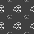 Euro EUR icon sign Seamless pattern on a gray vector image