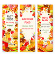 Fast food restaurant menu banners