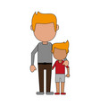 father with his child cartoon vector image vector image