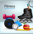 Fitness Lifestyle Background vector image vector image