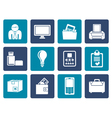 Flat Business and office equipment icons vector image vector image