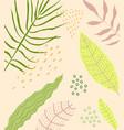 floral flat background design vector image vector image