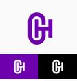 g h logo monogram original symbol web ui icon vector image vector image