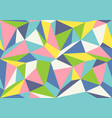 geometric polygon pattern vector image vector image
