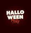 halloween party text logo vector image vector image