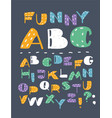 hand drawn abc english capital letters set vector image vector image