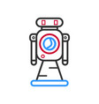 hand drawn robot isolated on white vector image vector image
