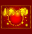 happy chinese new year with copy space vector image