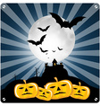 Happy Halloween Retro with Spooky Castle Bats and vector image vector image