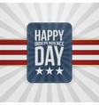 Happy Independence Day patriotic Badge vector image vector image