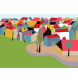 Houses in the town card vector image vector image