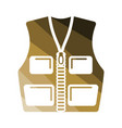 hunter vest icon vector image vector image