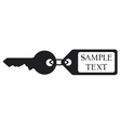 key with tag vector image vector image