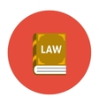 Law book icon flat vector image vector image