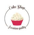 Logo sweet cupcake shop template badge logo for