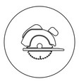 manual circular saw icon black color in round vector image