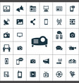 media icons universal set for web and ui vector image