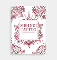mehendi tattoo oriental floral ornament in indian vector image