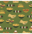 mexican food pattern vector image vector image