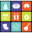 New Year icons square vector image vector image