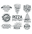 pizza lettering quotes italian pizza fast food vector image