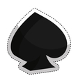poker ace isolated icon vector image