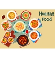 Popular soup of world cuisine icon vector image vector image