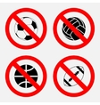 prohibition sign sports game no play play vector image vector image