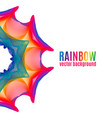 rainbow star background vector image