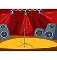 RockRoll Stage Cartoon vector image vector image
