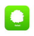 salad icon green vector image