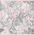 seamless pattern with flowers pastel colors vector image vector image