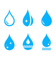 set droplet icons vector image vector image