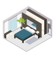 Set Isometric Bedroom Interior vector image vector image