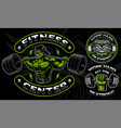 set of badges logos shirt designs for the gym vector image